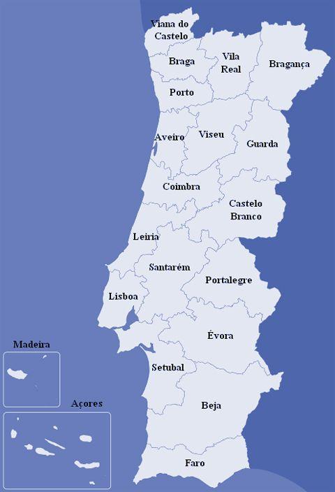 Portugália Divattérkép